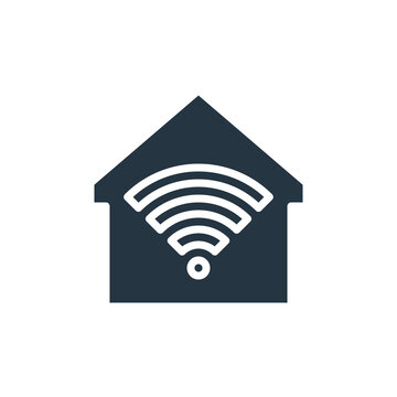smarthome icon. Glyph smarthome icon for website design and mobile, app development, print. smarthome icon from filled smarthome collection isolated on white background..