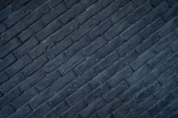 Texture of black brick wall