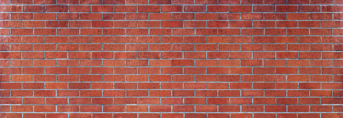 red brick wall panoramic