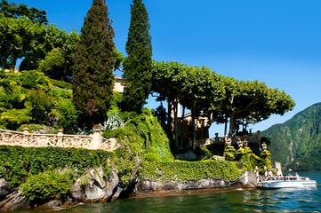 The Villa Balbianello on beautiful  Lake Como in Northern Italy