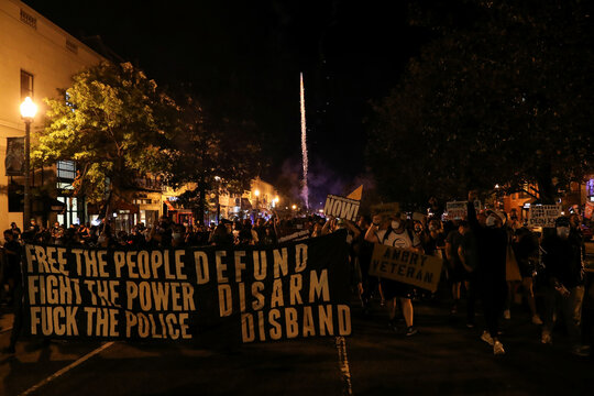 People protest against police violence and for racial equality in Washington