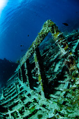 Acrylic Prints Shipwreck Diving down to the ribs of the RMS Rhone wreck