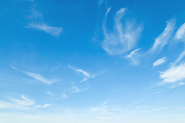 blue sky with white cloud nature landscape