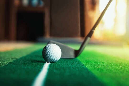 Artificial golf course for small office spaces