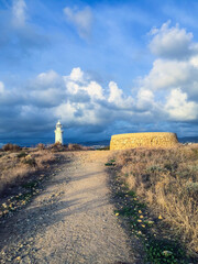 lighthouse on the coast of crete