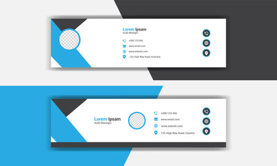 creative modern Corporate email signature collection set.