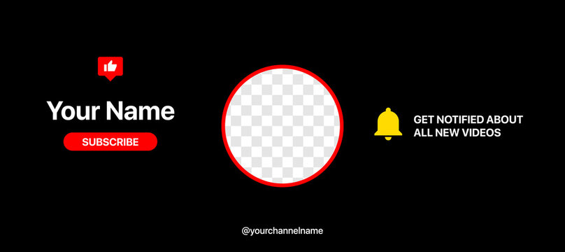 Youtube Channel Cover Wireframe. Youtube Banner For Design Your Channel. Put Your Content Under Background