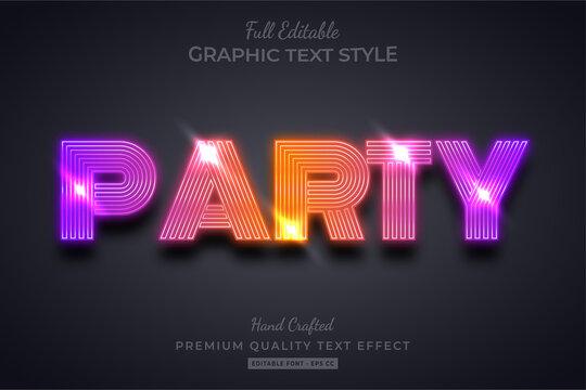 Gradient Party 3d Text Style Effect Premium