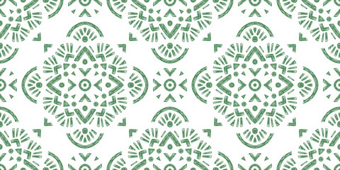 Abstract oriental pattern in boho style, endless geometric background.