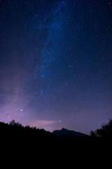 night sky near High Tatras, Slovakia