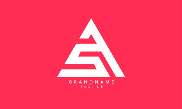 Alphabet letters Initials Monogram logo SA, AS, S and A