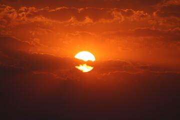 Photo sur Plexiglas Rouge mauve Sunset