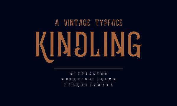 Elegant vintage design alphabet. Vector illustration of typography fonts set. Classic typeface.