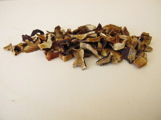 Dried mushrooms, bay bolete and porcino
