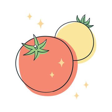 新鮮なオレンジ色と黄色のトマト