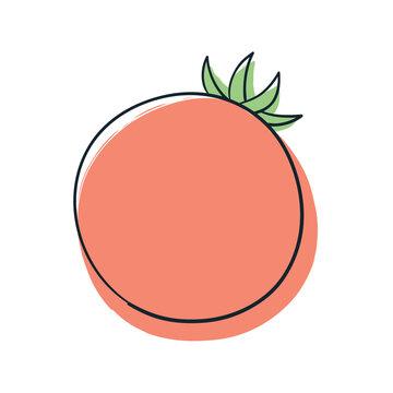 オレンジ色のトマト