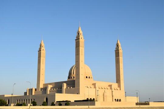 Nizwa Sultan Qaboos Grand Masjid outside view.