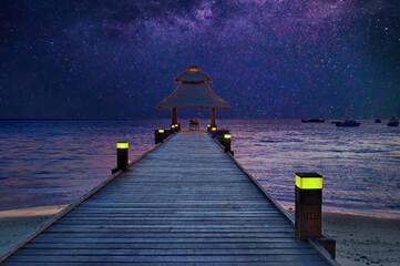 Under the stars in the paradise