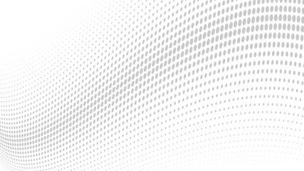 Papiers peints Abstract wave abstract white background with dots