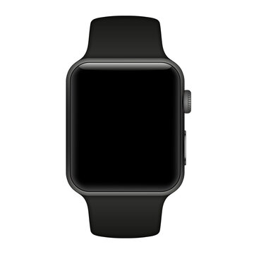 apple watch  isolated with icons on white background. Vector illustration. EPS 10