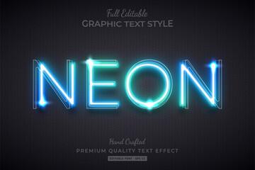 Glow Neon Editable Text Style Effect Premium