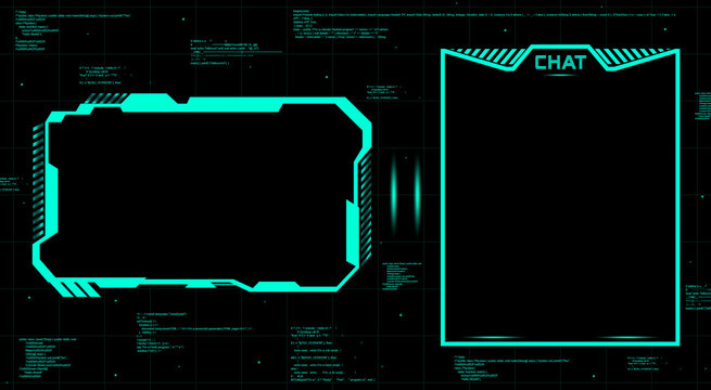 Stream Twitch Overlay Face Cam, Web Camera with chat for streaming broadcast. Green design. Gaming face cam with chat window. Streaming offline screen. Overlay background twitch
