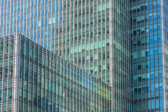 Office architecture, Canary Wharf, Docklands, London, England