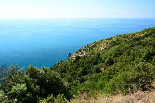 Small hamlet in National park of Cinque Terre. La Spezia province. Liguria. Italy