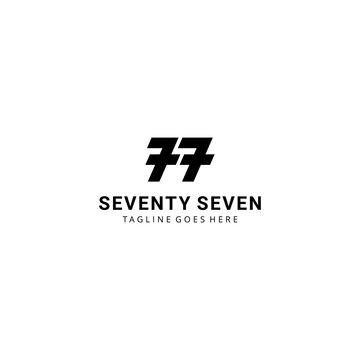 Creative modern Illustration seventy seven monogram sign geometric logo design template