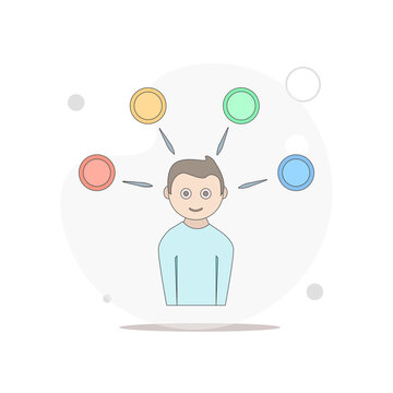 competence vector flat illustration on white