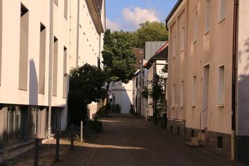 Historischer Straßenzug in der Altstadt von Menden im im Sauerland