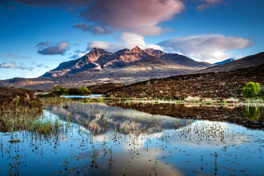Reflection of The Cuillins, Isle of Skye.