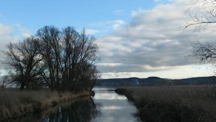 Mündung der Radolfzeller Aach in den Bodensee