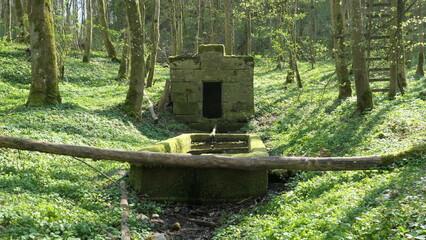 Idyllisches Brunnenhaus