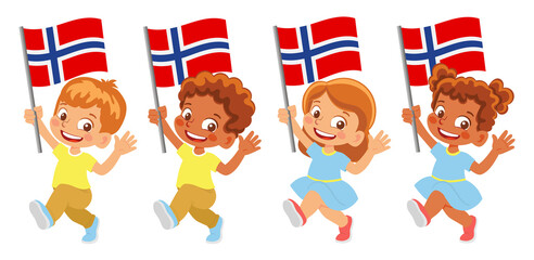 Norway flag in hand set