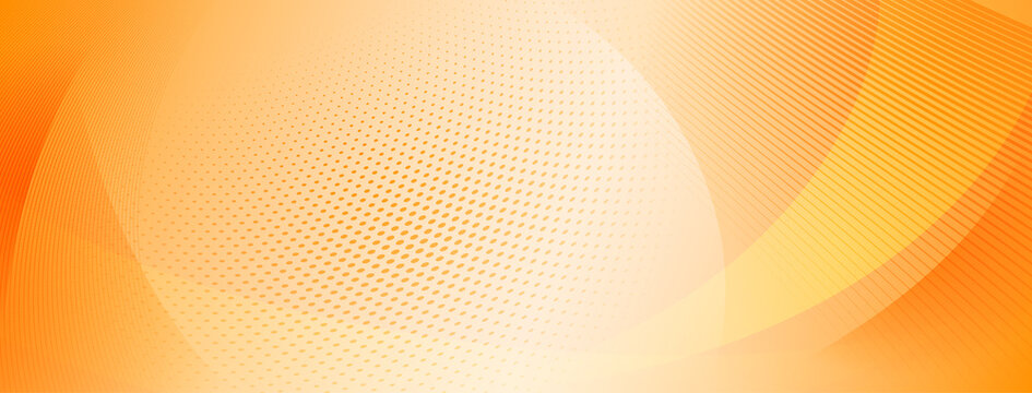 Abstract halftone background of small dots and wavy lines in orange colors