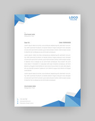 Simple Modern Creative & Clean business style Letterhead vector template design