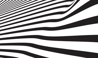 Abstract wave vector background. white and black curved line stripe. modern waves. wavy lines pattern. geometric line stripes. Trendy wavy background.