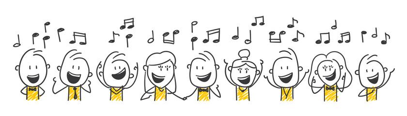 Strichfiguren / Strichmännchen: Singen, Musik, Chor. (Nr. 548)