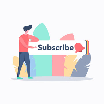 Video blog subscribe illustration concept