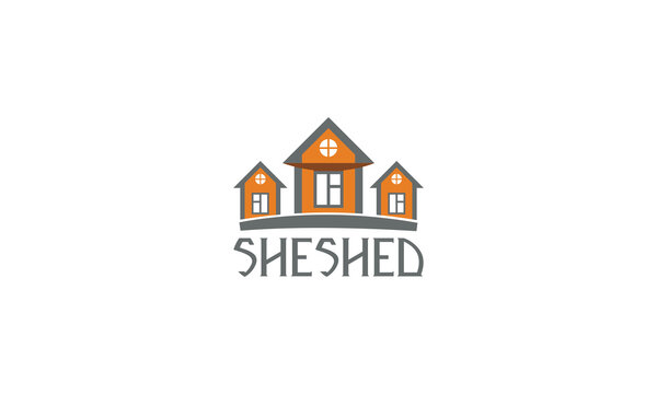 she shed logo; 3 home real estate business
