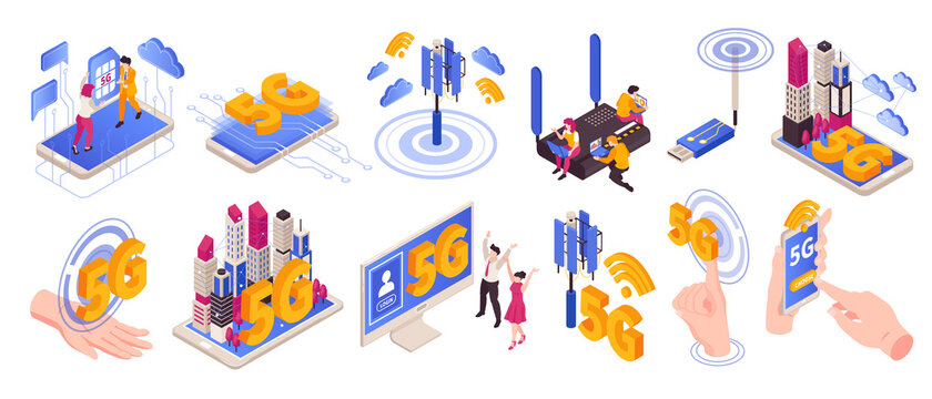 5G Internet Icons Collection