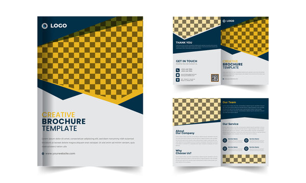 4 Pages Business Bi Fold Brochure Template
