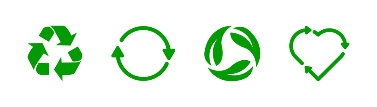 Recycle icon collection. Vector stock recycling sign.