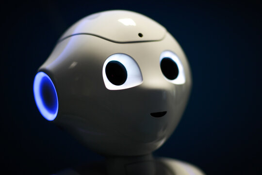 French robot Pepper that detects non-masked faces helps enforce mask-wearing
