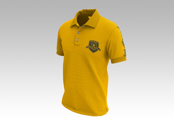 Short Sleeve Polo Shirt Mockup Front Side