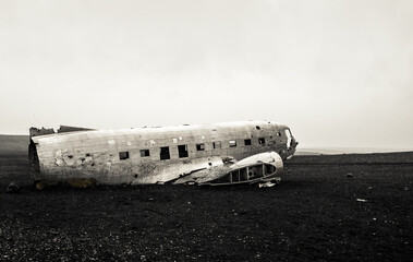 old crashed plane
