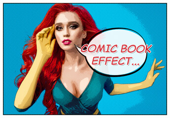 Comic Book Photo Effect Mockup