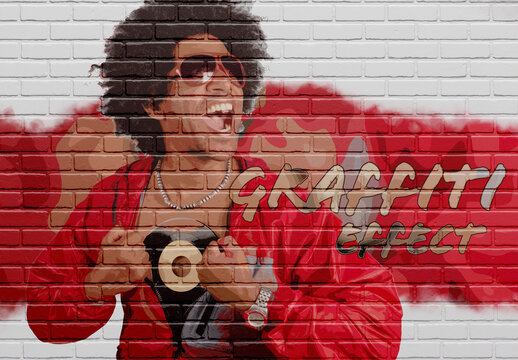 Graffiti Photo Effect Mockup