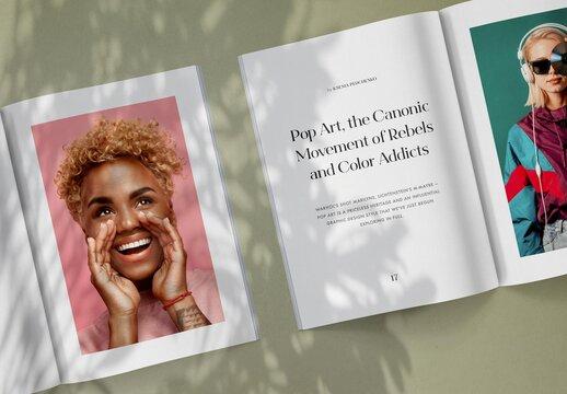Realistic Magazine Spread Mockup